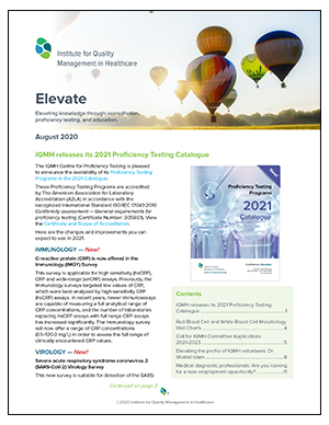 Elevate, August 2020 - The IQMH Newsletter